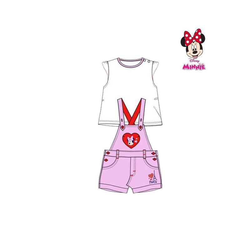 Βρεφικό Σετ Μπλούζα - Σαλοπέτα Χρώματος Ροζ Minnie Disney AQE0048