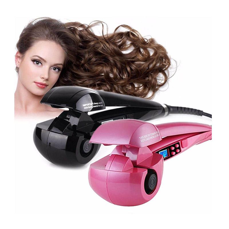 Αυτόματη Ηλεκτρική Συσκευή για Μπούκλες Χρώματος Μαύρο Hoppline HOP1000854-1