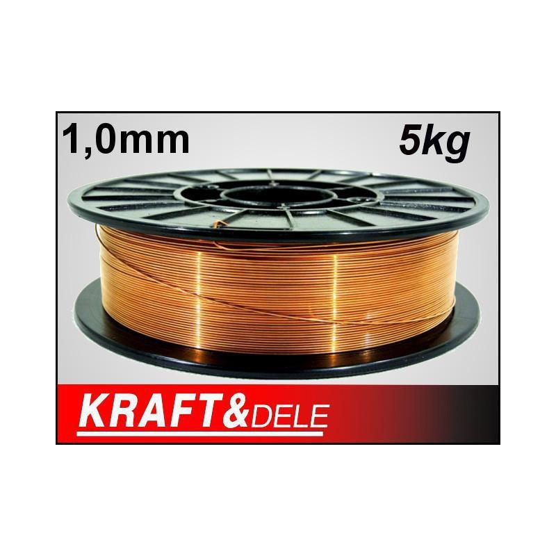 Χάλκινο Σύρμα Ηλεκτροσυγκόλλησης 1.0 mm 5 Kg Kraft&Dele KD-1152