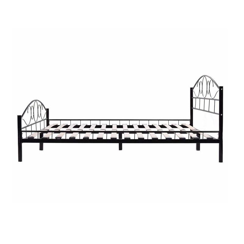 Διπλό Μεταλλικό Κρεβάτι 160 x 200 cm Χρώματος Μαύρο Hoppline HOP1000897-1