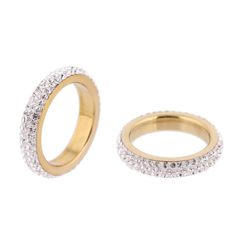 Δαχτυλίδι με 3 Σειρές από Κρύσταλλα Swarovski® Χρώματος Χρυσό BE LOVED 652051