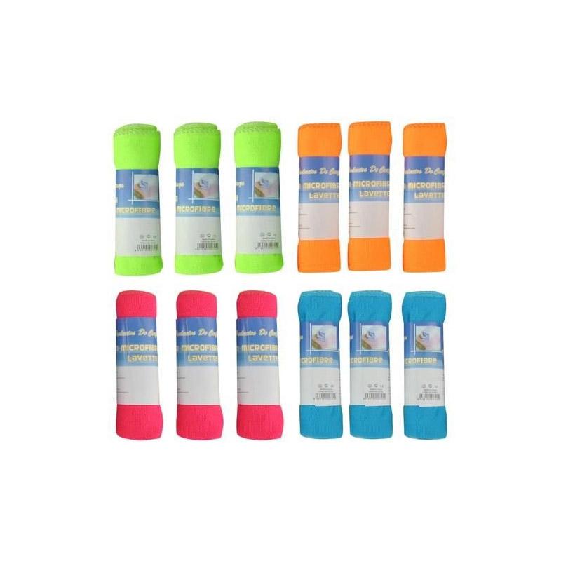 Σετ Πολύχρωμα Πανιά Καθαρισμού με Μικροΐνες 12 τμχ SPM 6086