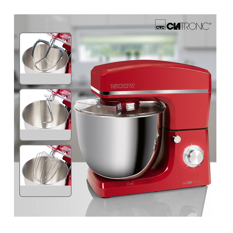 Κουζινομηχανή 1500 W Clatronic KM3765-Red