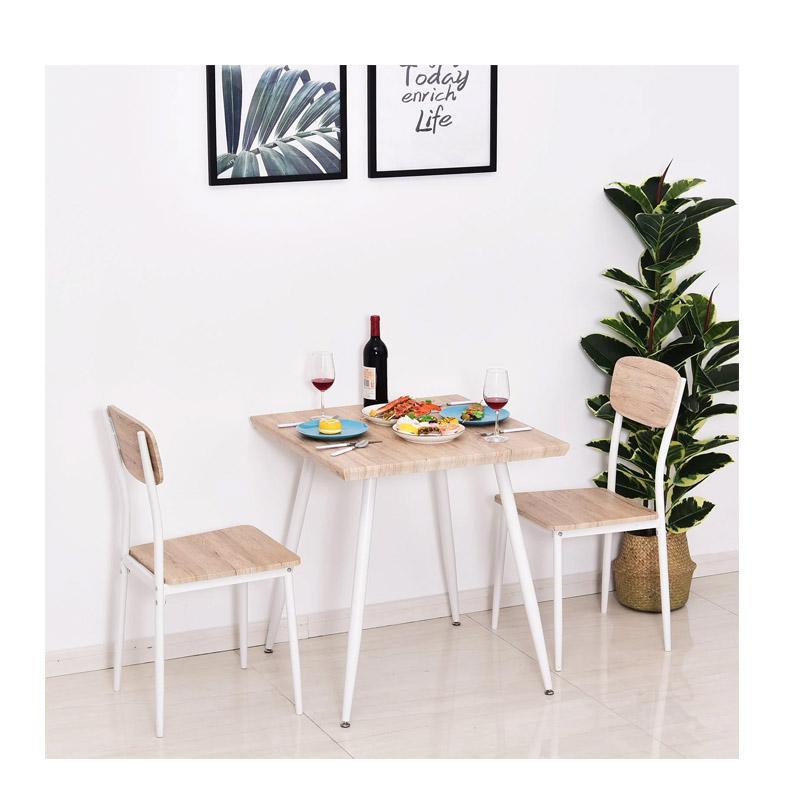Σετ Μεταλλικό Τετράγωνο Τραπέζι 70 x 70 x 76 cm με 2 Καρέκλες HOMCOM 835-086