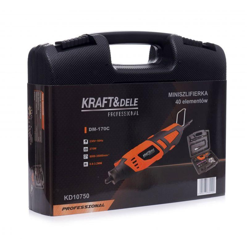 Mini Λειαντήρας 270 W με Θήκη και Αξεσουάρ Kraft&Dele ΚD-10750