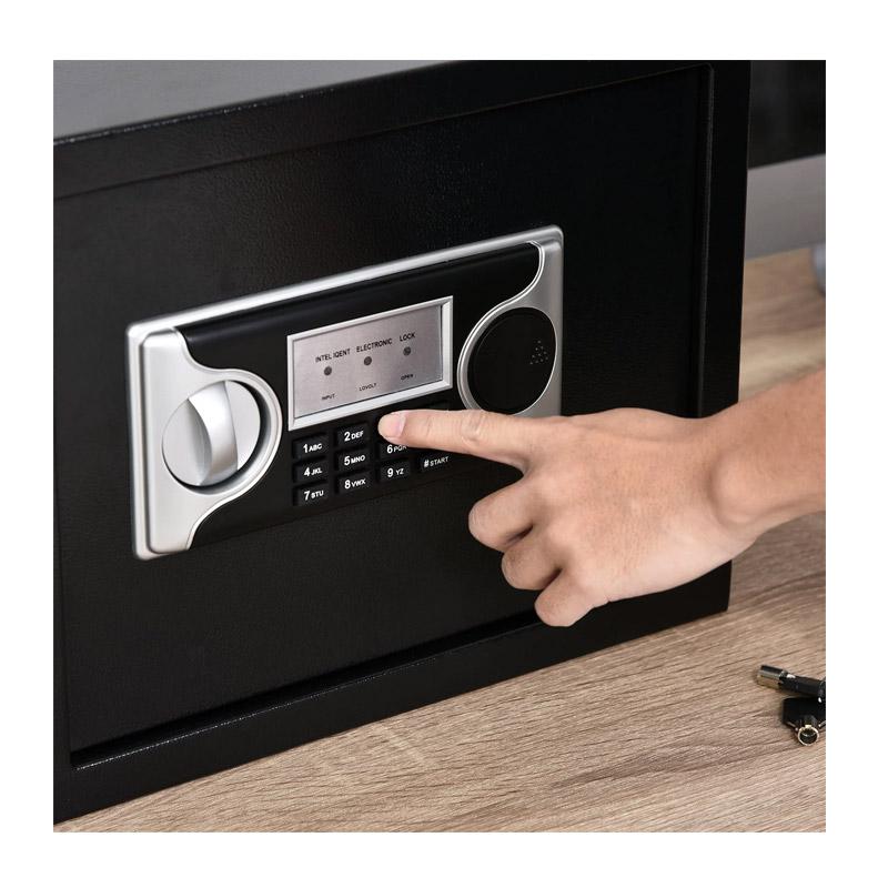 Χρηματοκιβώτιο Ασφαλείας με Ηλεκτρονική Κλειδαριά και Κλειδί 38 x 30 x 30 cm HOMCOM B00-012