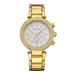 Γυναικείο Ρολόι Χρώματος Χρυσό με Μεταλλικό Μπρασελέ και Κρύσταλλα Swarovski® Timothy Stone D-032-ALGD