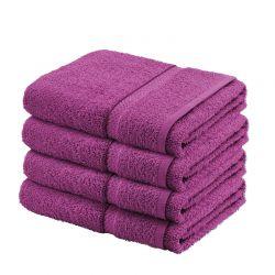 Σετ με 4 Πετσέτες Σώματος Dickens από 100% Luxury Αιγυπτιακό Βαμβάκι Χρώματος Μωβ DBATHS-4RASP