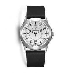 Ανδρικό Ρολόι με Μαύρο Δερμάτινο Λουράκι Timothy Stone N-015-SLBK