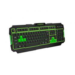 Ενσύρματο Πληκτρολόγιο USB Esperanza Shadow Χρώματος Πράσινο EGK202G
