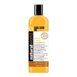Μαλακτική Κρέμα Organic Chia Seed Oil για Όγκο και Λάμψη Natural World 500 ml
