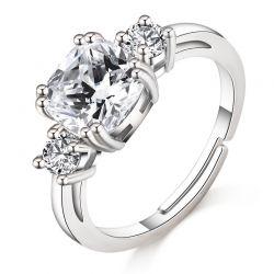 Δαχτυλίδι Meghan Replica Philip Jones Χρώματος Ασημί με Κρύσταλλα Swarovski®