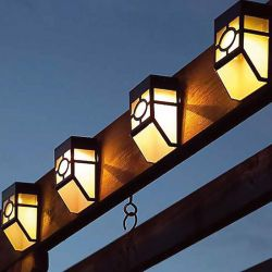 Ηλιακά Φώτα Φράχτη με Λευκό LED Φωτισμό 2 τμχ 36019sl