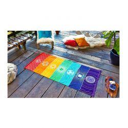 Ριχτάρι Ουράνιο Τόξο 150 x 70 cm Chakra Rainbow throw