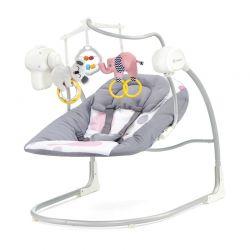Παιδικό Ρηλάξ - Κούνια 2 σε 1 Χρώματος Ροζ KinderKraft Minky Swing KKBMINKYPNK000