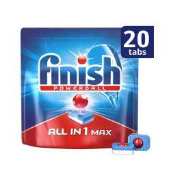 Απορρυπαντικό Πλυντηρίου Πιάτων Finish All In 1 Max Regular 20 Ταμπλέτες Finish-Tabs-R