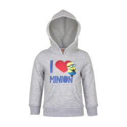 Παιδική Μπλούζα με Κουκούλα Χρώματος Γκρι Minions Disney HO1577
