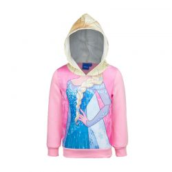 Παιδική Μπλούζα με Κουκούλα Χρώματος Ροζ Frozen Disney DHQ1194