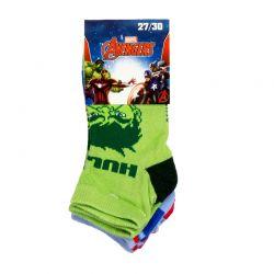 Σετ Παιδικές Κάλτσες 3 Ζευγάρια Pack 2 Avengers Disney QE4726