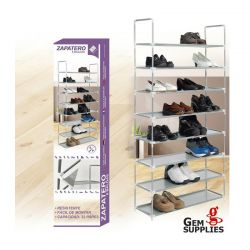 Stand Αποθήκευσης 32 Ζευγαριών Παπουτσιών με 8 Ράφια GEM BN1049