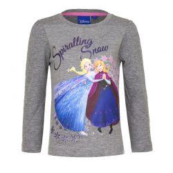 Παιδική Μακρυμάνικη Μπλούζα Χρώματος Γκρι Frozen Disney HO1382