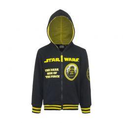 Παιδική Ζακέτα Φούτερ με Κουκούλα Χρώματος Μαύρο Star Wars Disney AHQ1058