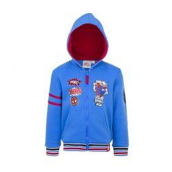 Παιδική Ζακέτα Φούτερ με Κουκούλα Χρώματος Μπλε Spiderman Disney AHQ1391