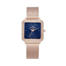 Γυναικείο Ρολόι Χρώματος Ροζ - Χρυσό με Μεταλλικό Μπρασελέ και Κρύσταλλα Swarovski® Timothy Stone Quartet Collection Q-012-ALGD