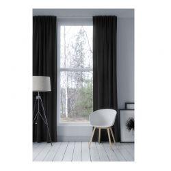 Κουρτίνα Blackout με Τρουκς 140 x 250 cm Χρώματος Ανθρακί