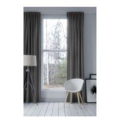 Κουρτίνα Blackout με Τρουκς 140 x 250 cm Χρώματος Γκρι