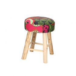 Ξύλινο Σκαμπό με Υφασμάτινο Κάθισμα 30 x 42 cm BATIK SPM 01191
