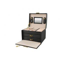 Κοσμηματοθήκη - Μπιζουτιέρα 17.5 x 13.8 x 13.5 cm Χρώματος Μαύρο 6348