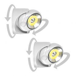 Σετ LED Λάμπες Τοίχου 5 W με Ανιχνευτή Κίνησης 2 τμχ SPM 40000076
