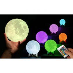 Επαναφορτιζόμενο Φωτιστικό Αφής Φεγγάρι 3D με LED Εναλλασσόμενο Φωτισμό και Τηλεχειριστήριο GloBrite VL3489