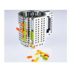 Κούπα από Lego Χρώματος Γκρι SPM BrickMug-Grey