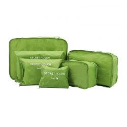 Σετ Αδιάβροχα Τσαντάκια Ταξιδιού 6 τμχ Χρώματος Πράσινο SPM 6pcluggorgan-GREEN