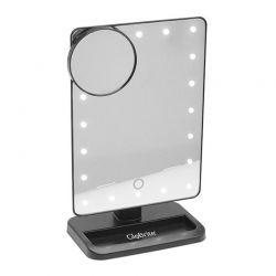 Επιτραπέζιος Καθρέπτης με Led Φωτισμό και Κουμπί Αφής Χρώματος Μαύρο GloBrite LED_touch_mirror-BLK