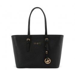 Γυναικεία Τσάντα Χειρός Χρώματος Μαύρο Beverly Hills Polo Club 562 650BHP0521