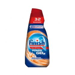 Υγρό Απορρυπαντικό Πλυντηρίου Πιάτων Finish All in 1 Max Gel Fresh Burst 650 ml Finish-Gel-FB