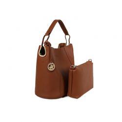 Γυναικεία Τσάντα Χειρός με Τσαντάκι Χρώματος Καφέ Beverly Hills Polo Club 397 650BHP0669