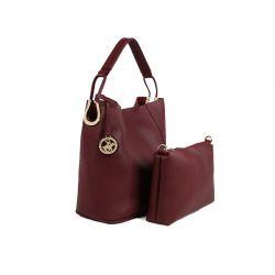 Γυναικεία Τσάντα Χειρός με Τσαντάκι Χρώματος Μπορντό Beverly Hills Polo Club 397 650BHP0672