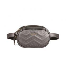 Γυναικεία Τσάντα Μέσης Χρώματος Ασημί Beverly Hills Polo Club 610 657BHP0728