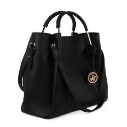 Γυναικεία Τσάντα Χειρός Χρώματος Μαύρο Beverly Hills Polo Club 396 650BHP0655