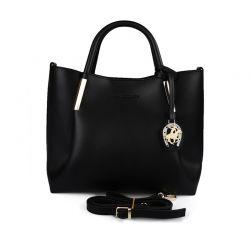 Γυναικεία Τσάντα Χειρός Χρώματος Μαύρο Beverly Hills Polo Club 701 657BHP0607