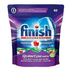 Απορρυπαντικό Πλυντηρίου Πιάτων Finish Quantum Max Apple & Lime 60 Ταμπλέτες Fin-Quant60-AL