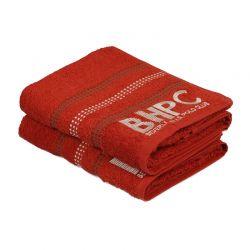 Σετ με 2 Πετσέτες Προσώπου 50 x 90 cm Χρώματος Κεραμιδί Beverly Hills Polo Club 355BHP1263