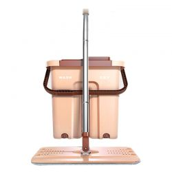 Σετ Κουβάς με Αυτόματη Επίπεδη Αυτοκαθαριζόμενη Σφουγγαρίστρα Cenocco CC-9070-Brown