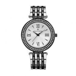Γυναικείο Ρολόι Χρώματος Μαύρο και Ασημί με Μεταλλικό Δίχρωμο Μπρασελέ και Κρύσταλλα Swarovski® Timothy Stone B-023-ALBKSLn