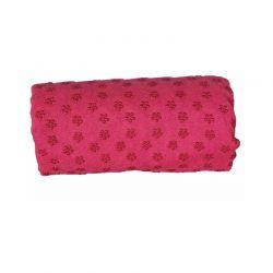 Πετσέτα Γιόγκα με Θήκη Μεταφοράς Χρώματος Ροζ Hoppline HOP1000973-2