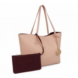 Γυναικεία Τσάντα Χειρός Χρώματος Ροζ Beverly Hills Polo Club 402 657BHP0773